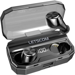LETSCOM IPX6 Wireless Bluetooth Earbuds