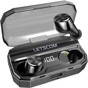 LETSCOM IPX6 Wireless Bluetooth Earbuds